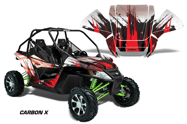 UTV Graphics Kit Decal Sticker Wrap For Arctic Cat Wildcat EPS 2012-2016  CARBONX RED