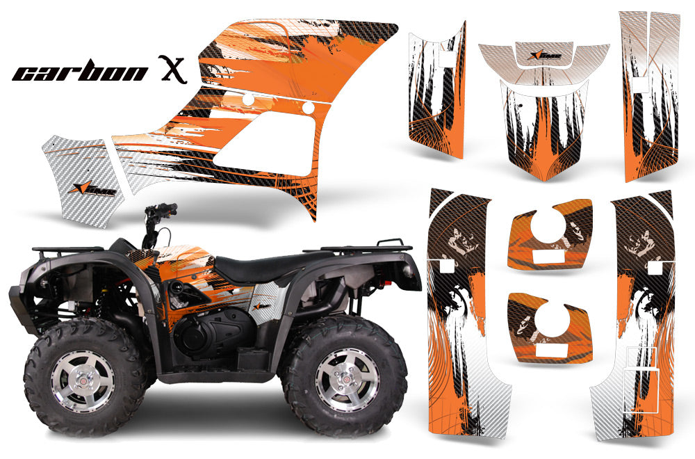 ATV Graphics Kit Decal Sticker Wrap For Bennche Grey Wolf 500/700 CARBONX ORANGE-atv motorcycle utv parts accessories gear helmets jackets gloves pantsAll Terrain Depot