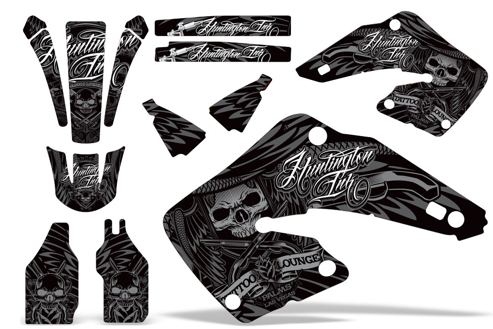 Dirt Bike Graphics Kit MX Decal Wrap For Honda CR125 CR250 2000-2001 HISH SILVER-atv motorcycle utv parts accessories gear helmets jackets gloves pantsAll Terrain Depot