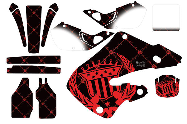 Dirt Bike Graphics Kit Decal Wrap For Honda CR125 1998-1999 CR250 1997-1999 RELOADED RED BLACK-atv motorcycle utv parts accessories gear helmets jackets gloves pantsAll Terrain Depot