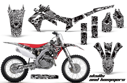 Dirt Bike Graphics Kit Decal Sticker Wrap For Honda CRF250R 2014-2017 HISH WHITE