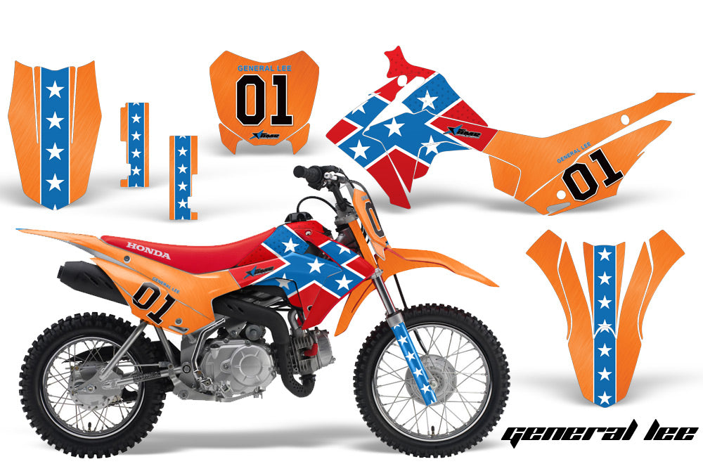 Dirt Bike Decal Graphic Kit Wrap For Honda CRF110 CRF 110 2013-2018 GENERAL LEE-atv motorcycle utv parts accessories gear helmets jackets gloves pantsAll Terrain Depot