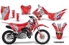 Load image into Gallery viewer, Dirt Bike Decal Graphic Kit Wrap For Honda CRF110 CRF 110 2013-2018 TBOMBER RED-atv motorcycle utv parts accessories gear helmets jackets gloves pantsAll Terrain Depot