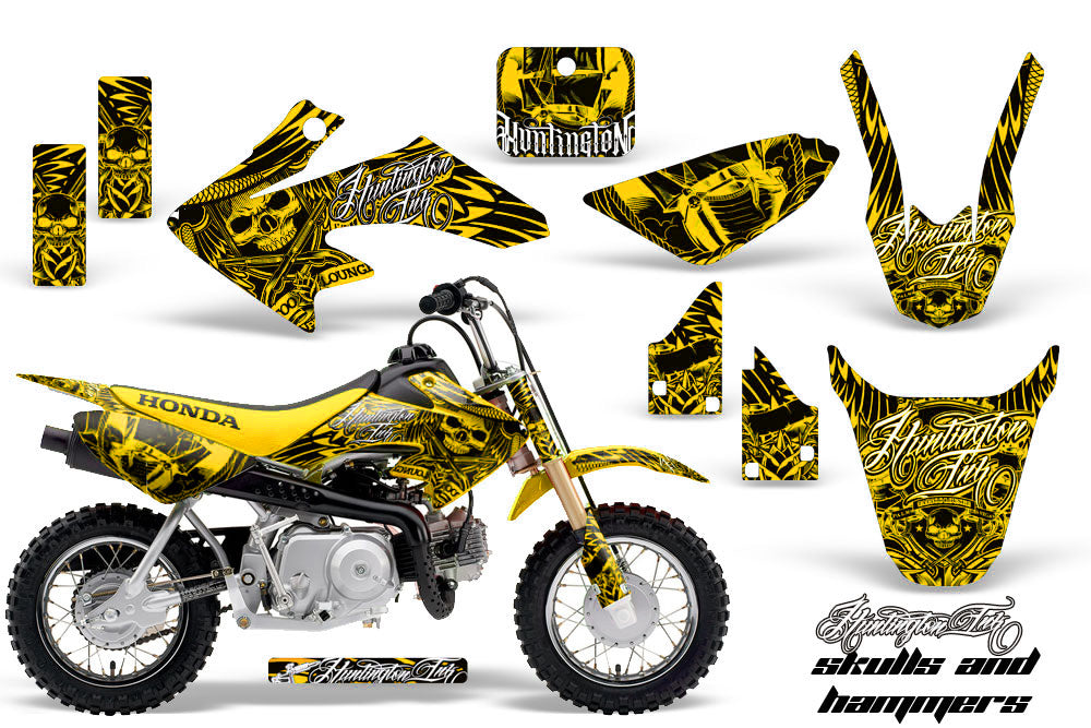Dirt Bike Graphics Kit Decal Wrap For Honda CRF50 CRF 50 2014-2018 HISH YELLOW-atv motorcycle utv parts accessories gear helmets jackets gloves pantsAll Terrain Depot