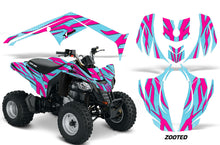 Load image into Gallery viewer, ATV Decal Graphics Kit Wrap For Can-Am DS250 DS 250 Bombardier 2006-2016 ZOOTED PINK AQUA-atv motorcycle utv parts accessories gear helmets jackets gloves pantsAll Terrain Depot