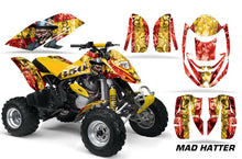 Load image into Gallery viewer, ATV Graphics Kit Decal Quad Wrap For Can-Am Bombardier DS650 DS 650 HATTER YELLOW RED-atv motorcycle utv parts accessories gear helmets jackets gloves pantsAll Terrain Depot