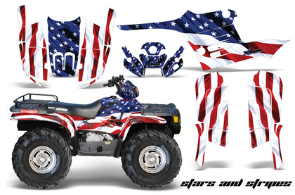 ATV Graphics Kit Decal Wrap For Polaris Sportsman 400 500 600 700 1995-2004 USA FLAG-atv motorcycle utv parts accessories gear helmets jackets gloves pantsAll Terrain Depot