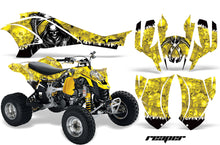 Load image into Gallery viewer, ATV Graphics Kit Quad Decal Wrap For Can-Am DS450 XMX XXC 2008-2016 REAPER YELLOW-atv motorcycle utv parts accessories gear helmets jackets gloves pantsAll Terrain Depot