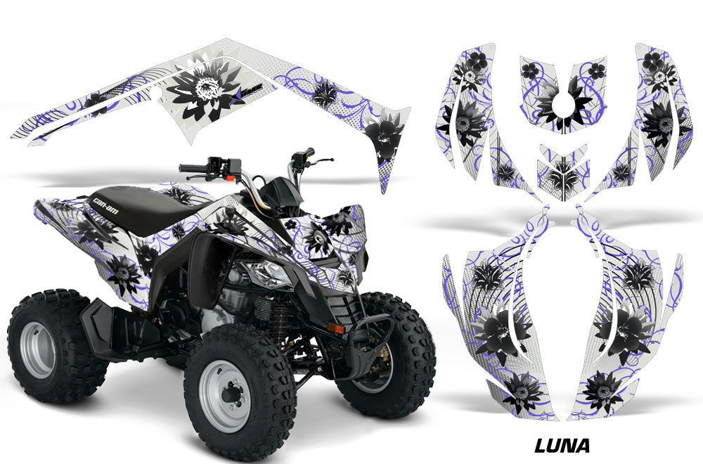 ATV Decal Graphics Kit Wrap For Can-Am DS250 DS 250 Bombardier 2006-2016 LUNA PURPLE-atv motorcycle utv parts accessories gear helmets jackets gloves pantsAll Terrain Depot