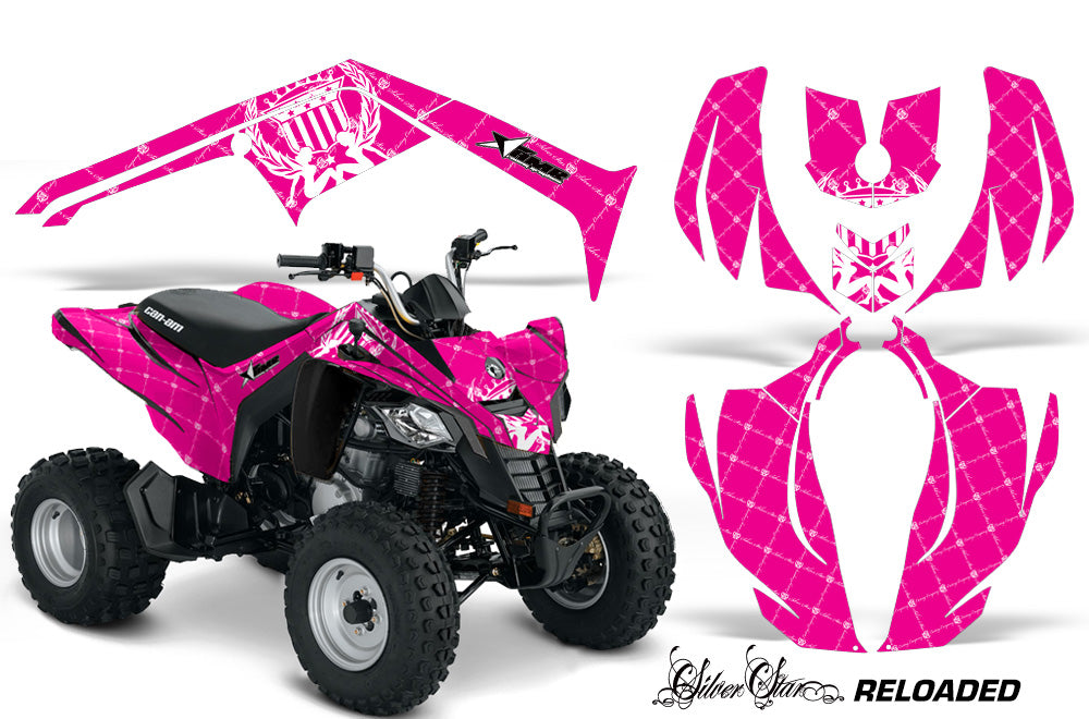 ATV Decal Graphics Kit Wrap For Can-Am DS250 DS 250 Bombardier 2006-2016 RELOADED WHITE PINK-atv motorcycle utv parts accessories gear helmets jackets gloves pantsAll Terrain Depot