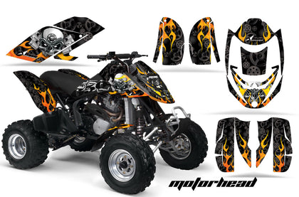 ATV Graphics Kit Decal Quad Wrap For Can-Am Bombardier DS650 DS 650 MOTORHEAD BLACK