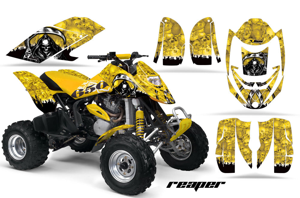 ATV Graphics Kit Decal Quad Wrap For Can-Am Bombardier DS650 DS 650 REAPER YELLOW-atv motorcycle utv parts accessories gear helmets jackets gloves pantsAll Terrain Depot