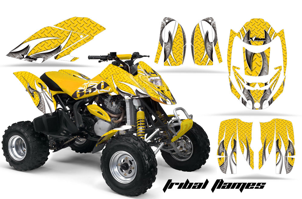 ATV Graphics Kit Decal Quad Wrap For Can-Am Bombardier DS650 DS 650 TBOMBER YELLOW-atv motorcycle utv parts accessories gear helmets jackets gloves pantsAll Terrain Depot