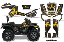 Load image into Gallery viewer, ATV Graphics Kit Decal Wrap For CanAm Outlander Max 500/800 2006-2012 MELTDOWN YELLOW BLACK-atv motorcycle utv parts accessories gear helmets jackets gloves pantsAll Terrain Depot