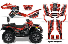 Load image into Gallery viewer, ATV Graphics Kit Decal Wrap For CanAm Outlander Max 500/800 2006-2012 HATTER RED BLACK-atv motorcycle utv parts accessories gear helmets jackets gloves pantsAll Terrain Depot