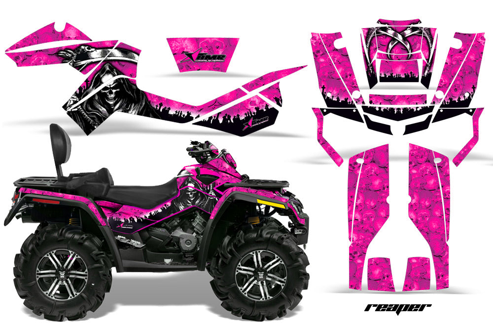 ATV Graphics Kit Decal Wrap For CanAm Outlander Max 500/800 2006-2012 REAPER PINK-atv motorcycle utv parts accessories gear helmets jackets gloves pantsAll Terrain Depot