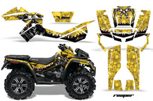 Load image into Gallery viewer, ATV Graphics Kit Decal Wrap For CanAm Outlander XMR 500/800 2006-2012 REAPER YELLOW-atv motorcycle utv parts accessories gear helmets jackets gloves pantsAll Terrain Depot