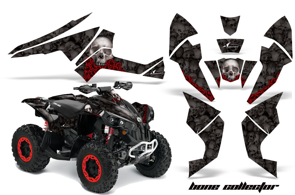 ATV Decal Graphics Kit Quad Wrap For Can-Am Renegade 500 X/R 800X/R 1000 BONES BLACK-atv motorcycle utv parts accessories gear helmets jackets gloves pantsAll Terrain Depot