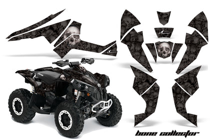 ATV Decal Graphics Kit Quad Wrap For Can-Am Renegade 500 X/R 800X/R 1000 BONES GREY BLACK-atv motorcycle utv parts accessories gear helmets jackets gloves pantsAll Terrain Depot