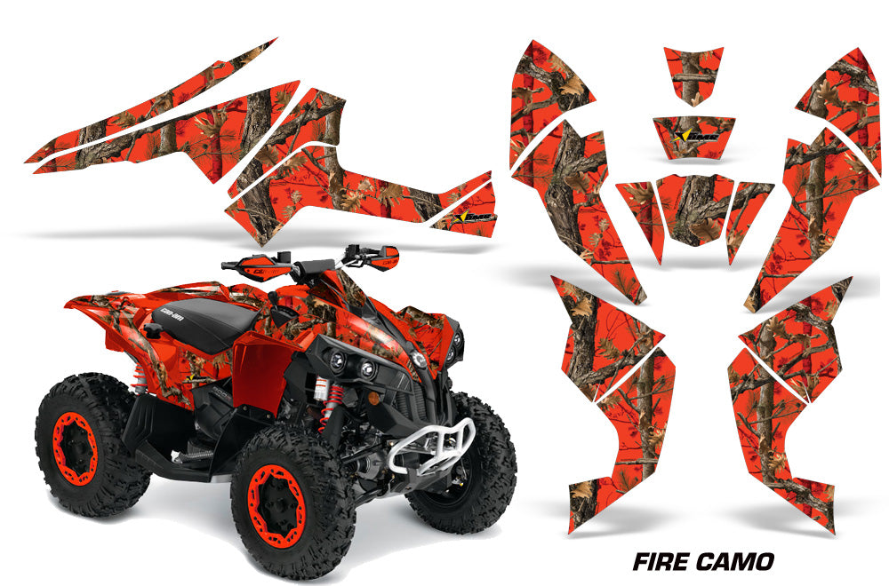 ATV Decal Graphics Kit Quad Wrap For Can-Am Renegade 500 X/R 800X/R 1000 FIRE CAMO RED-atv motorcycle utv parts accessories gear helmets jackets gloves pantsAll Terrain Depot