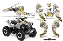 Load image into Gallery viewer, ATV Decal Graphics Kit Quad Wrap For Can-Am Renegade 500 X/R 800X/R 1000 MELTDOWN YELLOW WHITE-atv motorcycle utv parts accessories gear helmets jackets gloves pantsAll Terrain Depot
