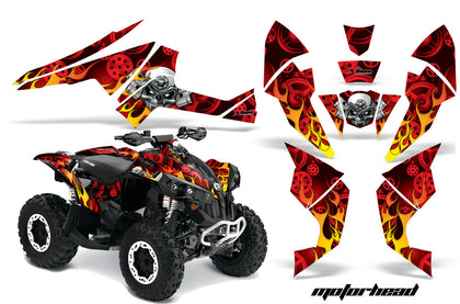 ATV Decal Graphics Kit Quad Wrap For Can-Am Renegade 500 X/R 800X/R 1000 MOTORHEAD RED-atv motorcycle utv parts accessories gear helmets jackets gloves pantsAll Terrain Depot