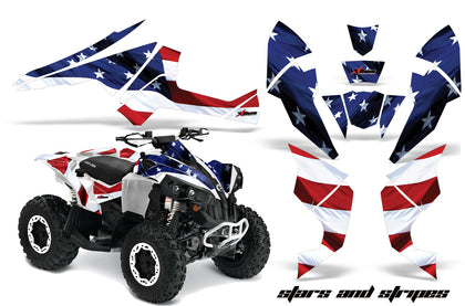 ATV Decal Graphics Kit Quad Wrap For Can-Am Renegade 500 X/R 800X/R 1000 USA FLAG-atv motorcycle utv parts accessories gear helmets jackets gloves pantsAll Terrain Depot