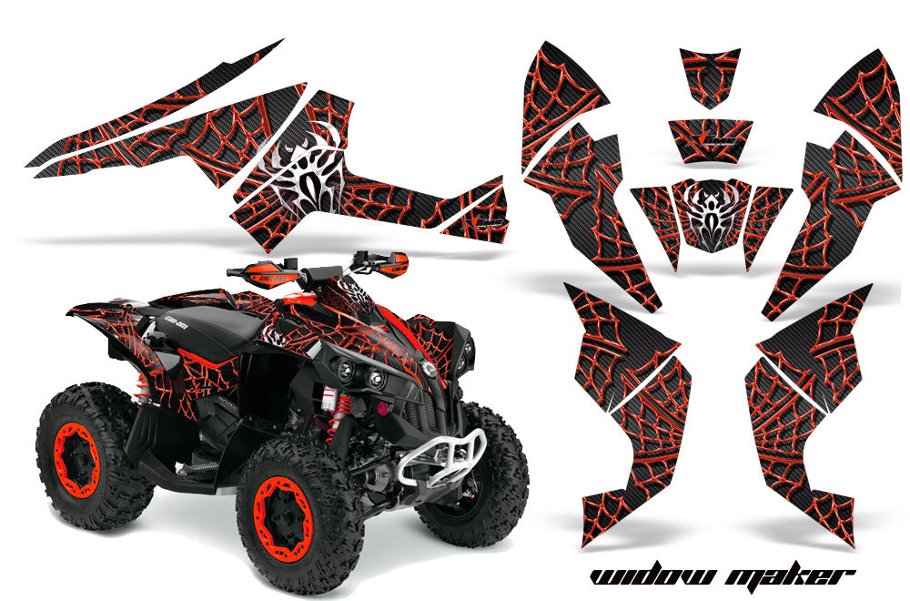 ATV Decal Graphics Kit Quad Wrap For Can-Am Renegade 500 X/R 800X/R 1000 WIDOW RED BLACK-atv motorcycle utv parts accessories gear helmets jackets gloves pantsAll Terrain Depot