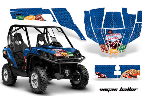 UTV Graphics Kit SXS Decal Sticker Wrap For Can-Am Commander 800 1000 VEGAS BLUE