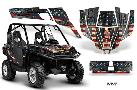 UTV Graphics Kit SXS Decal Sticker Wrap For Can-Am Commander 800 1000 WW2 BOMBER