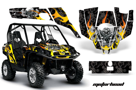 UTV Graphics Kit SXS Decal Sticker Wrap For Can-Am Commander 800 1000 MOTORHEAD BLACK
