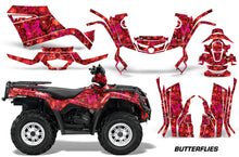 Load image into Gallery viewer, ATV Graphics Kit Decal Sticker Wrap For Can-Am Outlander 400 2009-2014 BUTTERFLEIS PINK RED-atv motorcycle utv parts accessories gear helmets jackets gloves pantsAll Terrain Depot