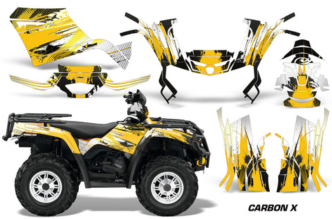 ATV Graphics Kit Decal Sticker Wrap For Can-Am Outlander 400 2009-2014  CARBONX YELLOW