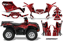 Load image into Gallery viewer, ATV Graphics Kit Decal Sticker Wrap For Can-Am Outlander 400 2009-2014 CONSPIRACY RED-atv motorcycle utv parts accessories gear helmets jackets gloves pantsAll Terrain Depot