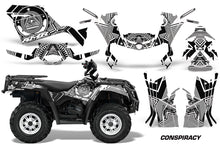 Load image into Gallery viewer, ATV Graphics Kit Decal Sticker Wrap For Can-Am Outlander 400 2009-2014 CONSPIRACY WHITE-atv motorcycle utv parts accessories gear helmets jackets gloves pantsAll Terrain Depot