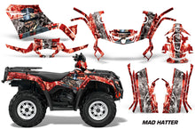 Load image into Gallery viewer, ATV Graphics Kit Decal Sticker Wrap For Can-Am Outlander 400 2009-2014 HATTER RED SILVER-atv motorcycle utv parts accessories gear helmets jackets gloves pantsAll Terrain Depot