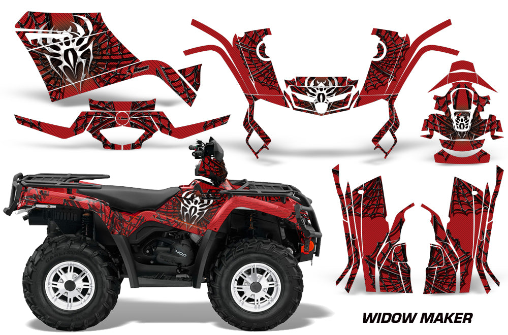 ATV Graphics Kit Decal Sticker Wrap For Can-Am Outlander 400 2009-2014 WIDOW BLACK RED-atv motorcycle utv parts accessories gear helmets jackets gloves pantsAll Terrain Depot