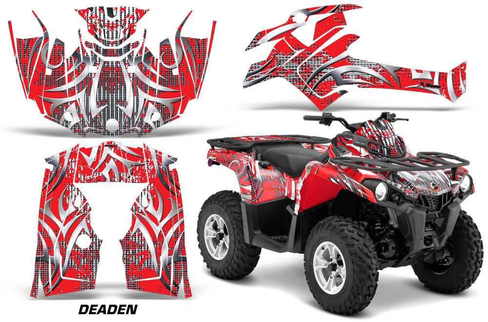 ATV Graphics Kit Decal Sticker Wrap For Can-Am Outlander-L 2014-2015 DEADEN RED-atv motorcycle utv parts accessories gear helmets jackets gloves pantsAll Terrain Depot