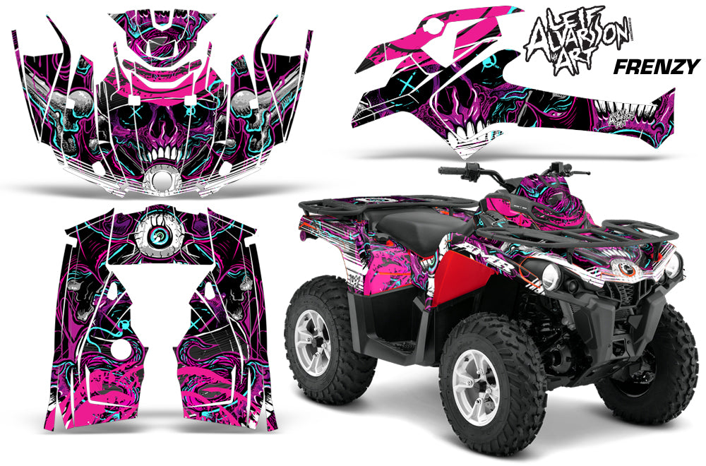 ATV Graphics Kit Decal Sticker Wrap For Can-Am Outlander-L 2014-2015 FRENZY PURPLE-atv motorcycle utv parts accessories gear helmets jackets gloves pantsAll Terrain Depot