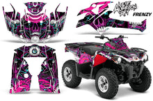 Load image into Gallery viewer, ATV Graphics Kit Decal Sticker Wrap For Can-Am Outlander-L 2014-2015 FRENZY PURPLE-atv motorcycle utv parts accessories gear helmets jackets gloves pantsAll Terrain Depot