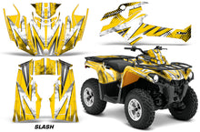 Load image into Gallery viewer, ATV Graphics Kit Decal Sticker Wrap For Can-Am Outlander-L 2014-2015 SLASH WHITE YELLOW-atv motorcycle utv parts accessories gear helmets jackets gloves pantsAll Terrain Depot