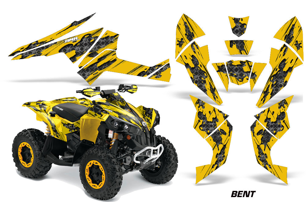 ATV Decal Graphics Kit Quad Wrap For Can-Am Renegade 500 X/R 800X/R 1000 BENT YELLOW-atv motorcycle utv parts accessories gear helmets jackets gloves pantsAll Terrain Depot