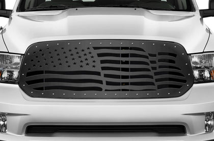 1 Piece Steel Grille for Dodge Ram 1500 2013-2016 - AMERICAN FLAG