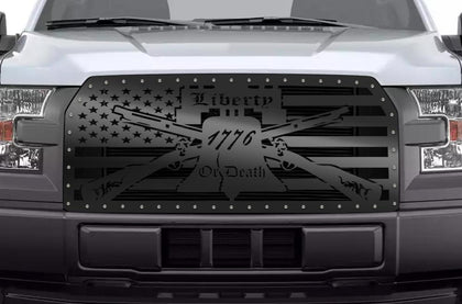 1 Piece Steel Grille for Ford F150 2015-2017 - LIBERTY OR DEATH