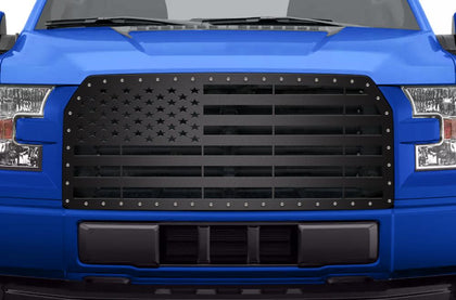 1 Piece Steel Grille for Ford F150 2015-2017 - AMERICAN FLAG