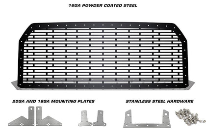 1 Piece Steel Grille for Ford F150 2015-2017 - BRICKS