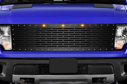 1 Piece Steel Grille for Ford Raptor SVT 2010-2014 - BRICKS