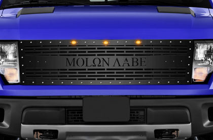 1 Piece Steel Grille for Ford Raptor SVT 2010-2014 - MOLON LABE BRICKS