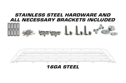 1 Piece Steel Grille for Ford F150 2009-2014 - FORD with STEEL FINISH