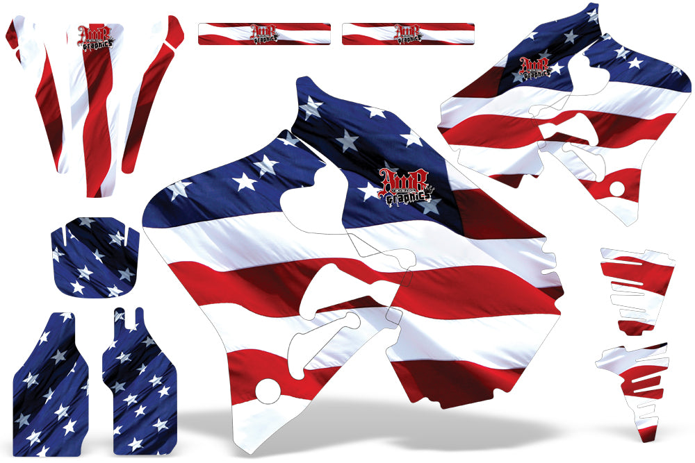 Dirt Bike Graphics Kit Decal Wrap For Honda CR125 1995-1997 CR250 1995-1996 USA FLAG-atv motorcycle utv parts accessories gear helmets jackets gloves pantsAll Terrain Depot